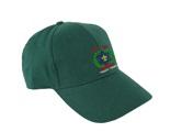 הדפסה רקמה על כובע ירוק