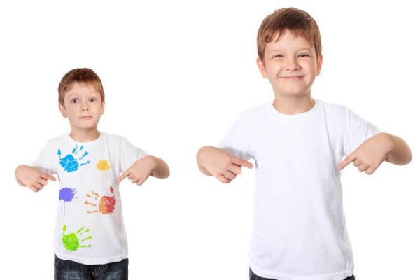 הדפסת ציור על חולצה לבנה לילדים