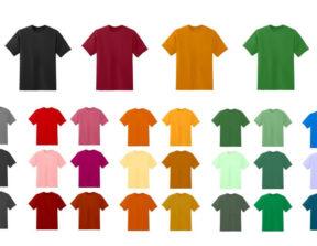 מגוון חולצות טריקו מוכנות להדפסה