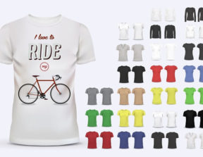 הדפסה על חולצות טריקו בצבעים שונים