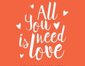 הדפס לחתונה כל שאתה צריך היא אהבה